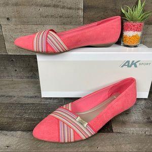 Anne Kleine Akotavia Flats Shoes Coral Sz 8.5